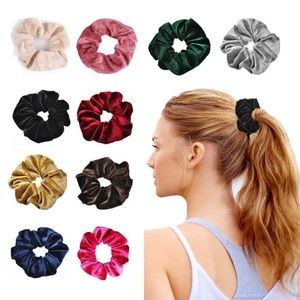 10pcs Velvet Hair Scrunchies Ring Hair Bands